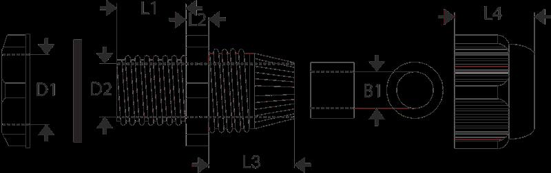 Dławik kablowy metryczny M 63mm IP67