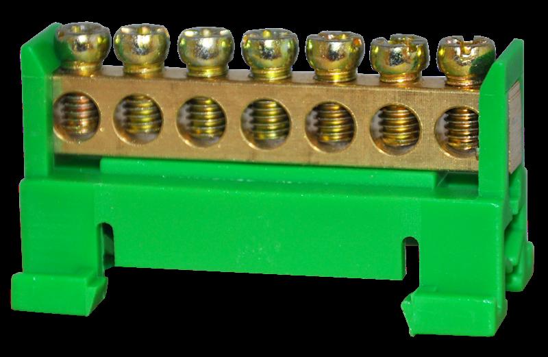 Listwa zaciskowa ochronna 7x10mm2 zielona