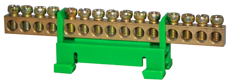 Listwa zaciskowa ochronna 15x10mm2 zielona