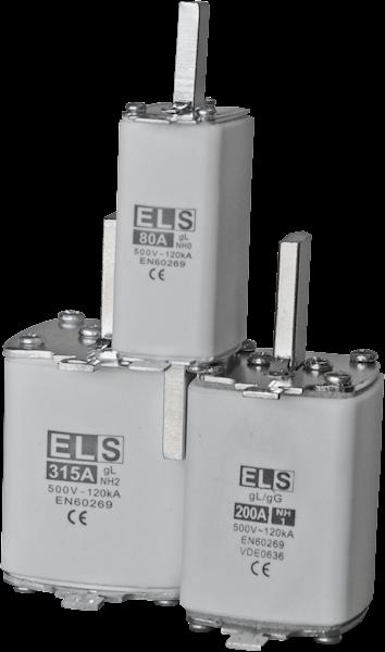 Wkładka bezpiecznikowa ELS NH0 80A gL 500V 120kA