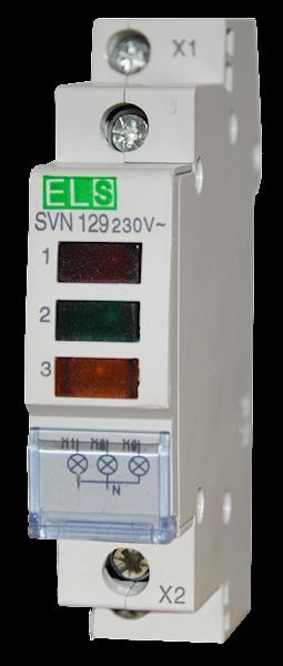 Lampka kontrolna 3 faz LED czerwona zielona żółta