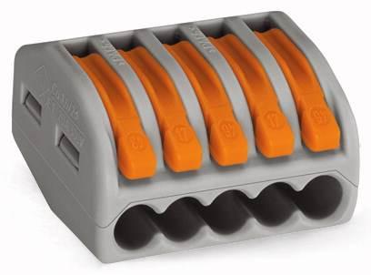 Złączka instalacyjna z dźwigniami ZL5 0,75mm-2,5mm