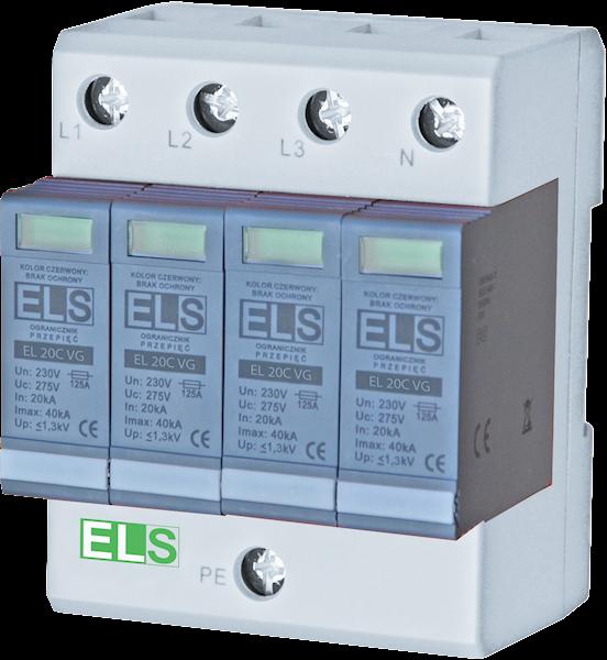 Ogranicznik warystorowo-iskiernikowy ELS 20C 4P