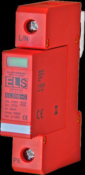 Ogranicznik ELS typ 1+2 (B+C) 1P 30/60kA 4,5kA