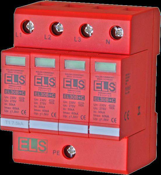 Ogranicznik ELS typ 1+2 (B+C) 4P 30/60kA 7,5kA