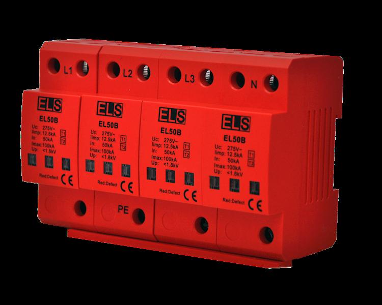 Ogranicznik ELS typ 1 (klasa B) 4P 50/100kA 1,8kV