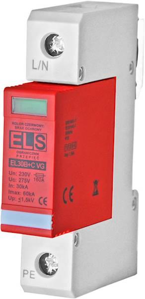 Ogranicznik ELS VG typ 1+2 (B+C) 1P 30/60kA 4,5kA