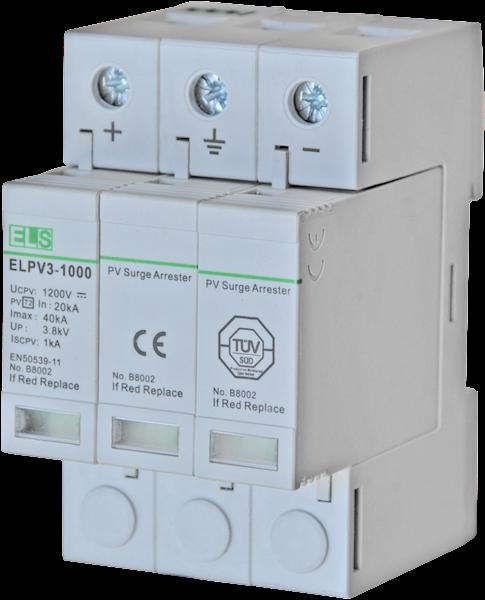 Ogranicznik ELS typ 2 (C) 3P 20/40kA 1000/1200V DC