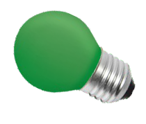 Żarówka kulka zielona B45 E27 25W