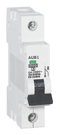 Wyłącznik nadmiarowy SINTEC  AUB 1P C6A 6kA