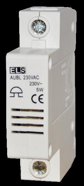 Dzwonek modułowy na szynę 230V AC 80dB IP20