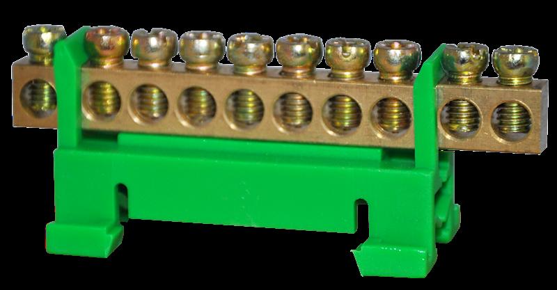 Listwa zaciskowa ochronna 10x10mm2 zielona