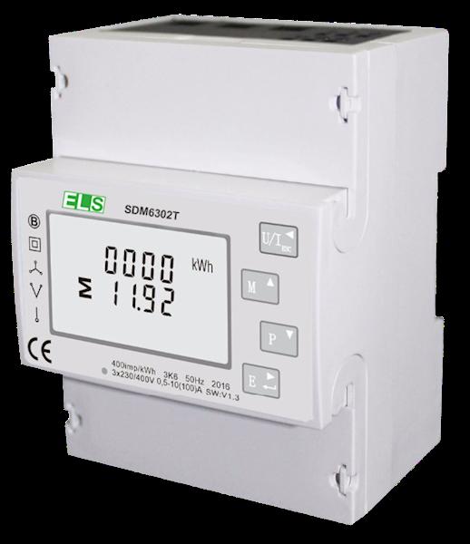 Licznik LCD 1/3-faz wielofunkcyjny 2T 100A MODBUS