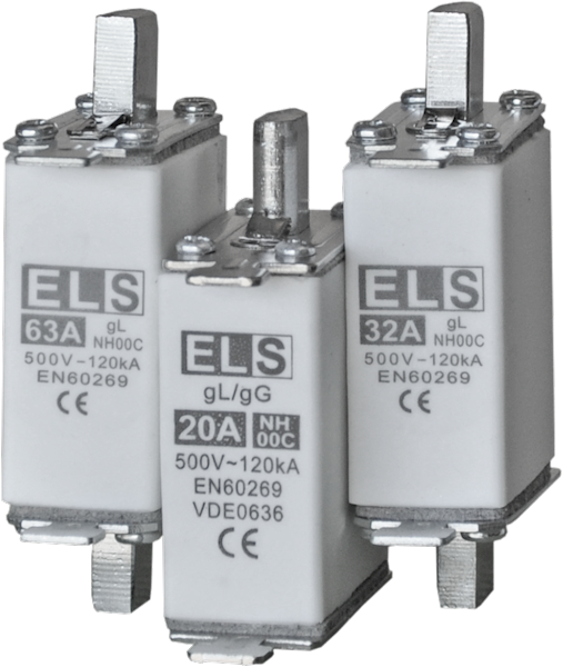 Wkładka bezpiecznikowa ELS NH00C 80A gL 500V 120kA