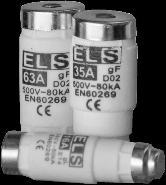 Wkładka topikowa ELS D01 16A gF 380V 50kA E14