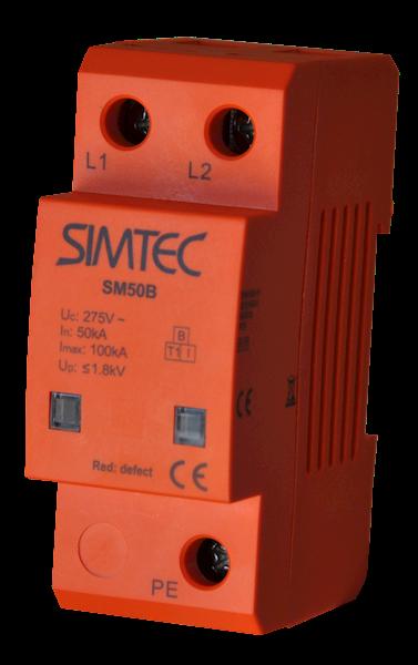 Ogranicznik SIMTEC typ 1 (B) 2P 50/100kA 1,8kV
