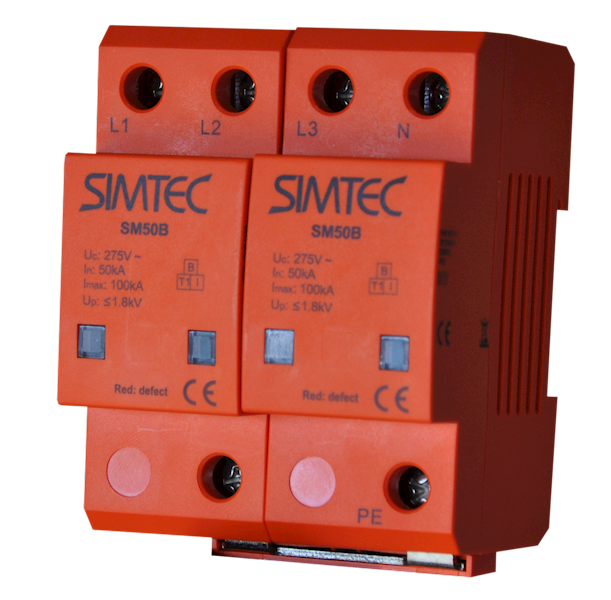 Ogranicznik SIMTEC typ 1 (B) 4P 50/100kA 1,8kV