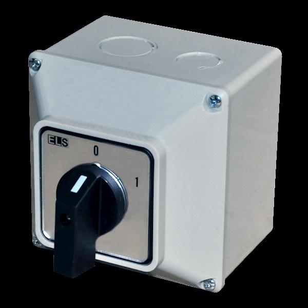Łącznik krzywkowy 0-1 63A 3P w obudowie IP65