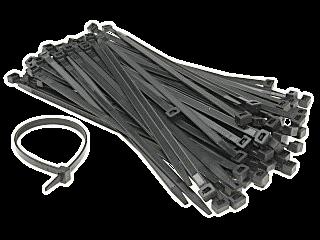Opaska zaciskowa czarna OPZ2.5*160/UV 100szt/opak.