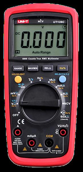 Miernik UT139C uniwersalny TrueRMS, NCV + temperatura