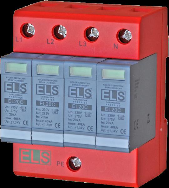 Ogranicznik ELS typ 2 (klasa C) 4P 20/40kA 1,3kV