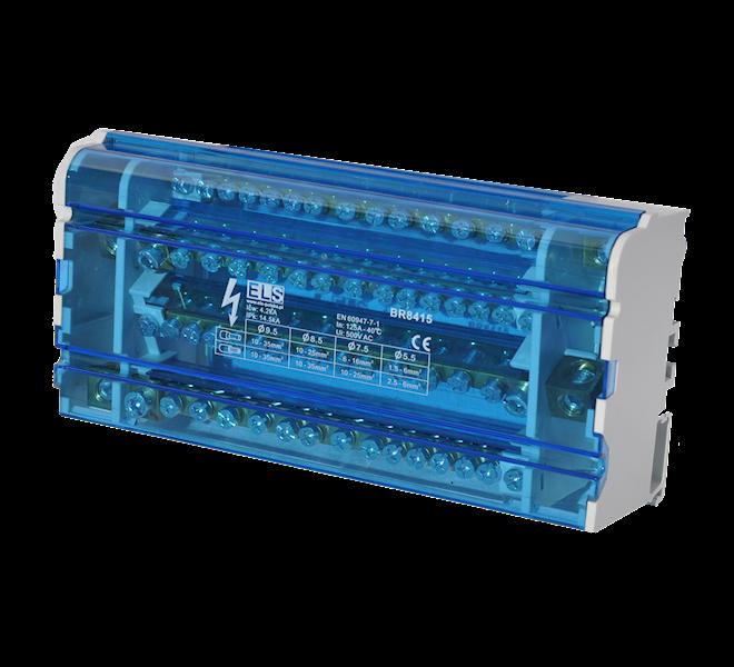 Blok 4 x 15 zacisków 125A 11x6mm, 2x25mm, 2x35mm