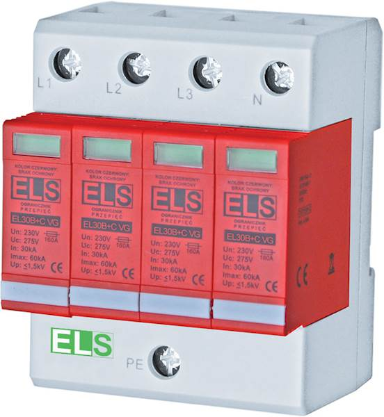 Ogranicznik ELS VG typ 1+2 (B+C) 4P 30/60kA 4,5kA