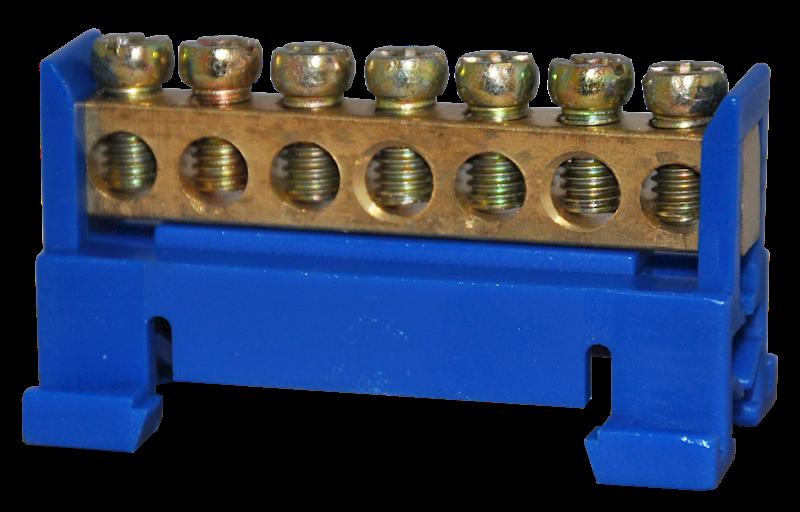 Listwa zaciskowa ochronna 7x10mm2 niebieska