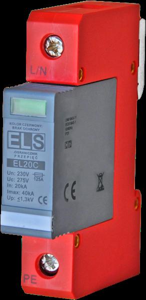 Ogranicznik ELS typ 2 (klasa C) 1P 20/40kA 1,3kV