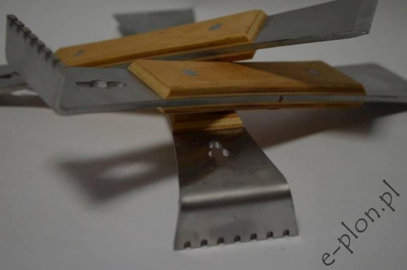 Dłuto pasieczne skrobak w oprawie drewnianej 200mm