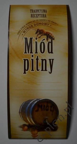 Etykieta samprzylepna na miód pitny ( 50 sztuk )