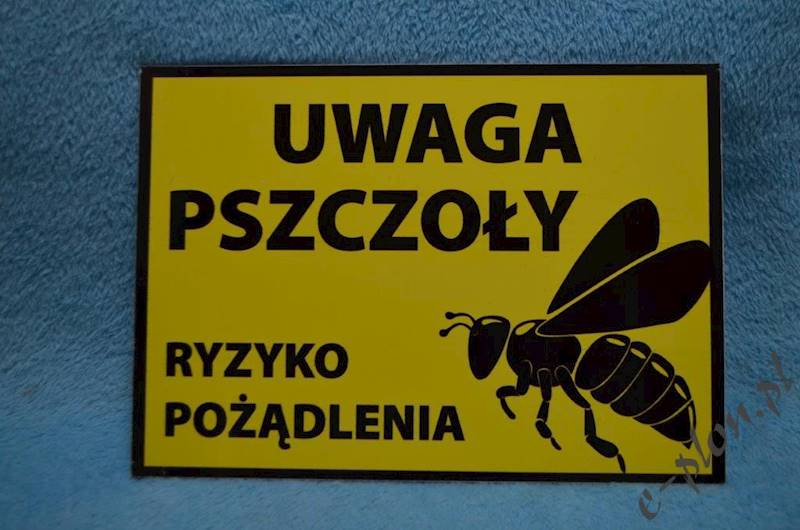 "Tabliczka A3 ""Uwaga pszczoły""  - wzór T55"