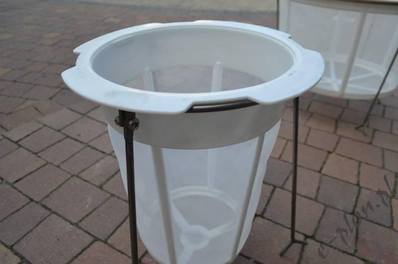 Sito cylindryczne plastik + stojak / kpl / średnie