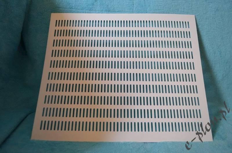 Krata winidurowa pozioma wielkopolska biała 1 mm