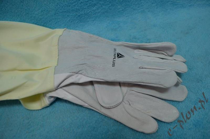 Rękawice pszczelarskie skórzane, rozmiar 8