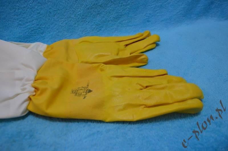 Rękawice pszczelarskie gumowe rozmiar 9