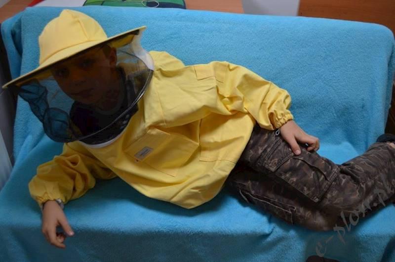 Bluza pszczelarska dziecięca z kapeluszem - 134