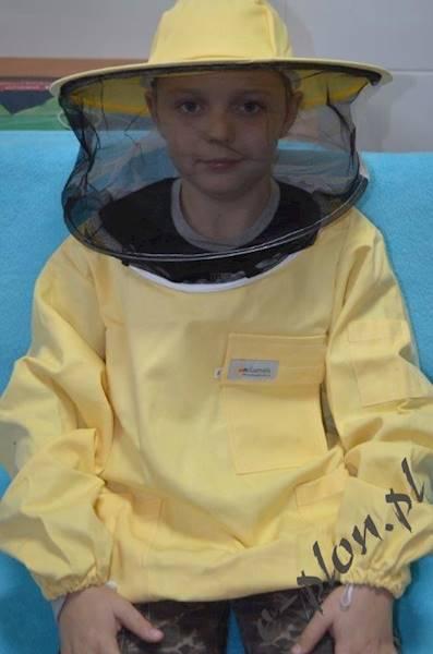 Bluza pszczelarska dziecięca z kapeluszem - 116