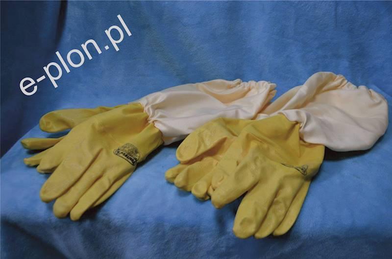 Rękawice pszczelarskie gumowe rozmiar 10