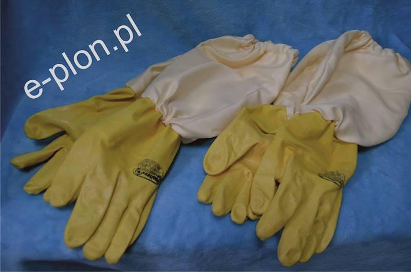 Rękawice pszczelarskie gumowe rozmiar 8