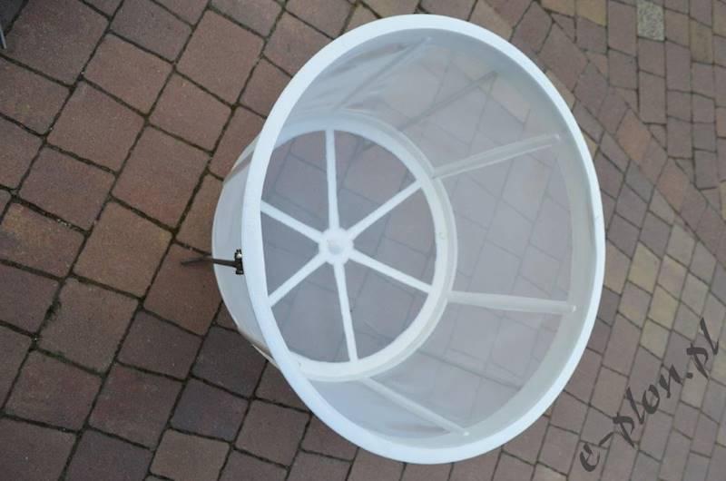 Sito cylindryczne plastik + stojak / kpl / duże