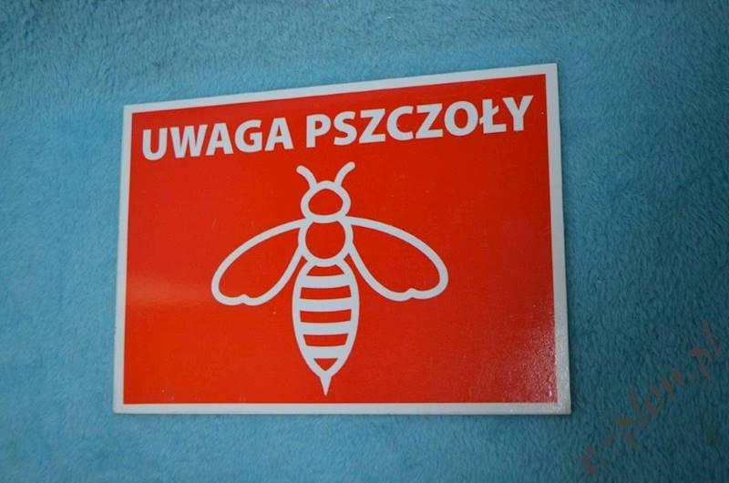 """Tabliczka """"Uwaga pszczoły"""" format A5 - wzór T4"""