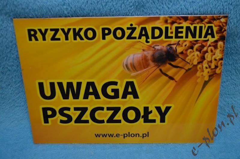 """Tabliczka """"Uwaga pszczoły"""" format A4 - wzór T8"""
