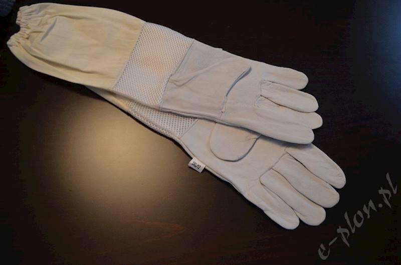 Rękawice pszczelarskie skórzane z wentylacją 12