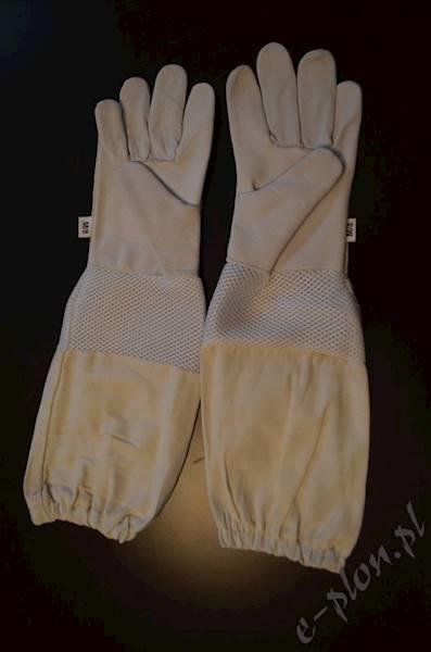 Rękawice pszczelarskie skórzane z wentylacją M/8