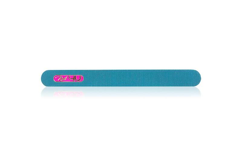 Pilnik COLOR PINK niebieski PROSTY 100/180 Nail4U