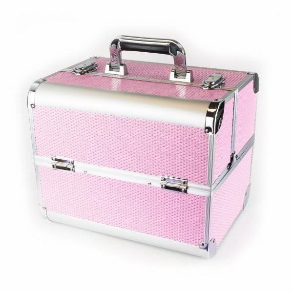 Kuferek różowy z cyrkoniami