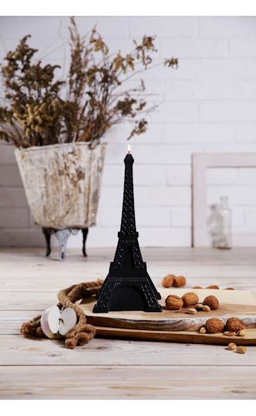 Świeca Candle Eiffel Tower Black Metallic