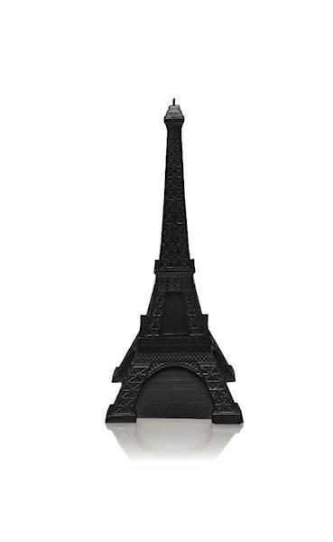 Świeca Candle Eiffel Tower Black Metallic