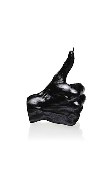 Świeca Candle Hand OK Black Metallic